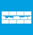 brick wall icon white vector image