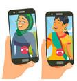 chatting talking design social media vector image vector image