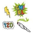 chill set vector image vector image