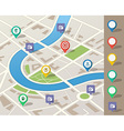 city map with location pins vector image