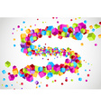 Colorful bright cubic particle tornado swoosh vector image vector image