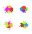 colorful paint splash set vector image vector image