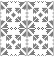 cross-stitch black and white seamless decorative vector image