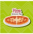 delicious pizza design vector image vector image