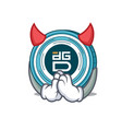 devil digixdao coin mascot cartoon vector image vector image