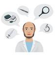doctor s tools cartoon vector image