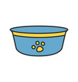 dogs bowl color icon vector image