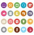 Electrical machine flat icons on white background vector image