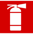 Fire extinguisher sign vector image vector image