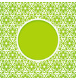 green frame with a flower pattern vector image vector image