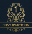 happy anniversary greeting card template for one vector image