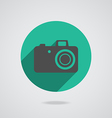 Hipster black photo camera icon element vector image