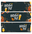 horizontal posters to oktoberfest 2019 festival vector image vector image