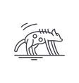 hyena line icon concept hyena linear vector image vector image