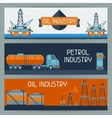 Industrial banners design with oil and petrol vector image vector image
