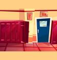 locker room gym cartoon vector image vector image