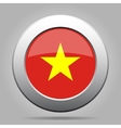 metal button with flag of Vietnam vector image vector image