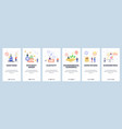 mobile app onboarding screens economy sanctions vector image vector image