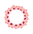 momo peach flower blossom banner wreath vector image vector image