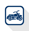 motorcycle flat icon vector image vector image