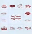 New year and Christmas calligraphy set vector image