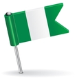 Nigerian pin icon flag vector image vector image