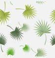 palm leaves seamless floral pattern background vector image