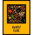 pattern with autumn leaves and berries vector image vector image