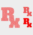 pixelated rx symbol icons vector image vector image