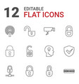 privacy icons vector image vector image