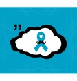 Prostate cancer ribbon awareness on blue vector image