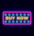 purchase board buy now with neon light vector image