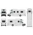 recreational vehicle on white background vector image vector image