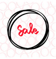 red sale template design special offer vector image vector image