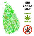 royalty free marijuana leaves style sri lanka vector image