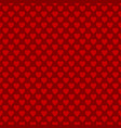 seamless heart pattern background - love concept vector image vector image