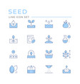 set color line icons seed and seedling vector image