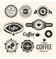 set monochrome coffee labels and badges retro vector image vector image