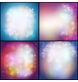 Set of Abstract multicolored backgrounds defocused vector image