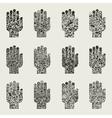 Set of hands2 vector image vector image