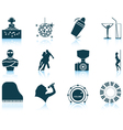 Set of Night club icons vector image vector image