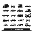 set vehicles cars icons set transport icons vector image