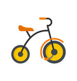 small tricycle icon flat style vector image vector image
