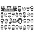 superset of 30 hipsters bearded men vector image vector image