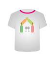 T Shirt Template- Wine house vector image vector image