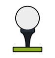 tee and ball golf related icon image vector image vector image