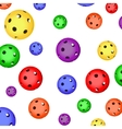 The pattern of color floorball balls vector image