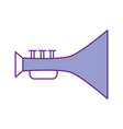 trumpet musical instrument icon vector image vector image