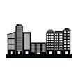 urban buildings cartoon vector image vector image