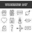 Valentines Day flat icons set vector image vector image